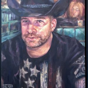 cowboy oil portrait prescott canvas