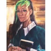 countercultural oil portrait by ans taylor