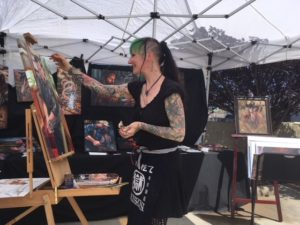 Ans Taylor live painting demo