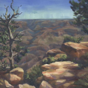 grand canyon lookout oil on canvas 14x18