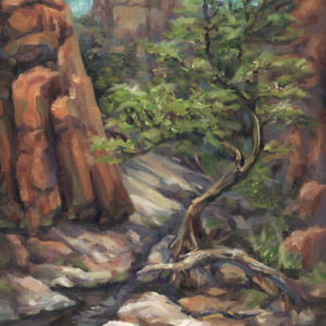 Watson loop plein air oil painting 12x16