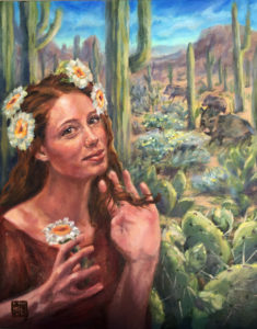 The Cactus Queen series is inspired by the@dbgphxDesert Botanical garden Phoenix, and my delightful model Annie.
